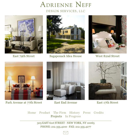 Adrienne Neff Interior Design Site